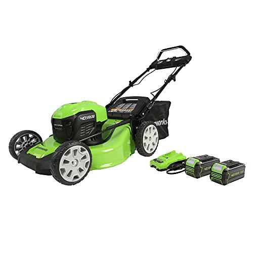 Greenworks MO40L4413 Lawn Mower, 40V Self Propelled, Green