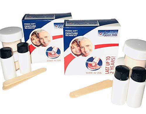 Perma Soft Denture Reline Kit- 2 Boxes (relines 4 dentures)