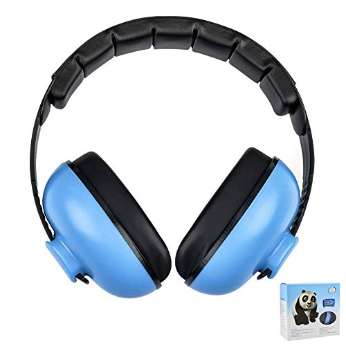 Baby Noise Cancelling Headphones, Ear Protection Earmuffs Noise Reduction for 0-3 Years Kids/Toddlers/Infant, for Babies Sleeping, Airplane, Concerts, Movie, Theater, Firework (Blue)