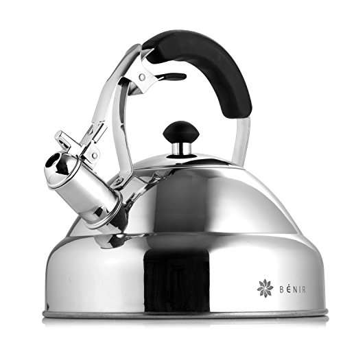 Select Gorgeous Tea Kettle – Whistling I Fastest Boiling Mirror Finish Surgical Stainless Steel Teapot - 11 cup