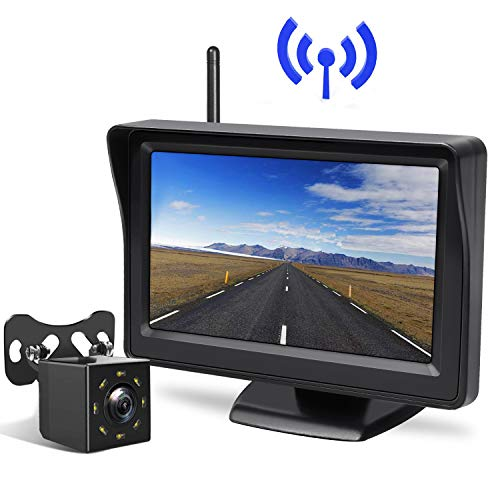 Peizeen Wireless Backup Camera with 4.3' LCD Screen HD Rear View Camera Kit Waterproof Reverse Cam Parking Lines for Cars, Minivans, SUV, Minibus(MN04)