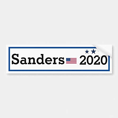 SLobyy Vinyl Bumper Sticker, Label Decal Sticker, Bernie Sanders 2020 Campaign Bumper Sticker, Funny Vinyl Stickers Waterproof Decal for Car, Bumper, Motorboat, Laptop