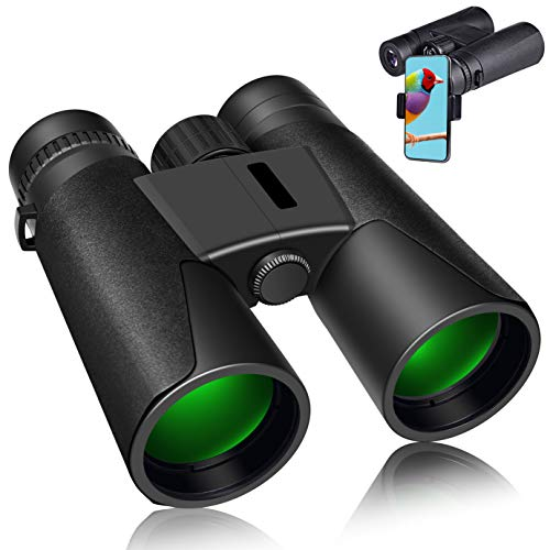 12x42 Binoculars for Adults and Kids HD Light Night Vision Compact Sharp Waterproof(1.09 lbs.) Super Bright BAK4 Prism FMC Lens for Bird Watching Hunting Outdoor Sports Games and Concerts(Black)