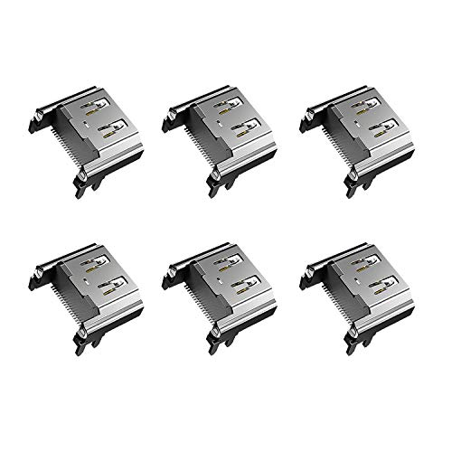 6 Pack HDMI Port Socket Interface Connector Replacement for Sony Playstation 4 PS4 (Note:NOT FIT for PS4 Slim/pro)