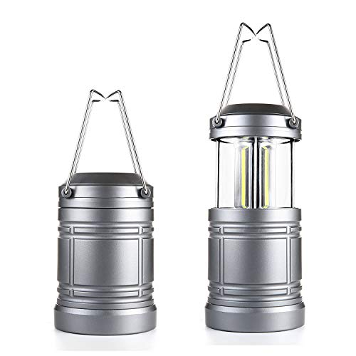 2 Pack Camping Lantern with Magnetic Base - 500 Lumens Collapsible Ultra Bright Portable LED Lantern for Emergency, Hurricane, Storms, Outage