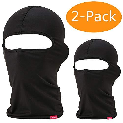 Balaclava Face Mask, 2 Pack Lightweight Motorcycle Black Warmer Ski Mask for Men Bandana