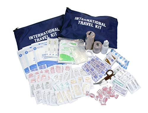 Medique Products 77501 International Traveler First Aid Kit with Polybags,Blue