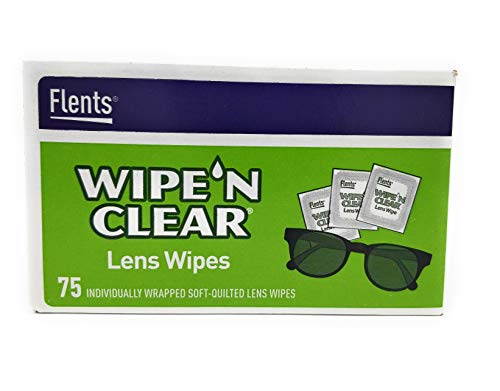 Flents WIPE'N Lens Wipes, Clear, 75 Count