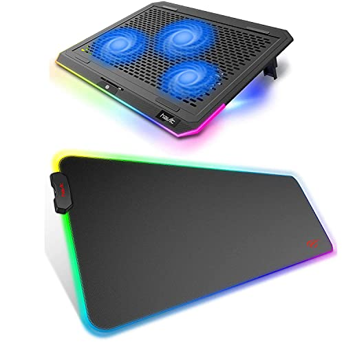 havit RGB Laptop Cooling Pad and Large Mouse Pad