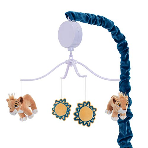 Lambs & Ivy Disney Baby Lion King Adventure Musical Baby Crib Mobile, Blue