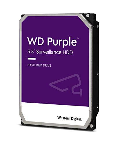 Western Digital 4TB WD Purple Surveillance Internal Hard Drive HDD - 5400 RPM, SATA 6 Gb/s, 64 MB Cache, 3.5' - WD40PURZ