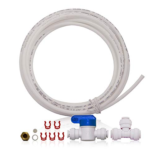 APEC Water Systems ICEMAKER-KIT-RO-1-4 Ice Maker Installation Kit For Standard 1/4' Output Reverse Osmosis Systems, Refrigerator and Water Filters