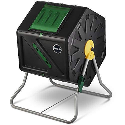 Miracle-Gro Small Composter - Compact Single Chamber Outdoor Garden Compost Bin (27.7 Gallon)