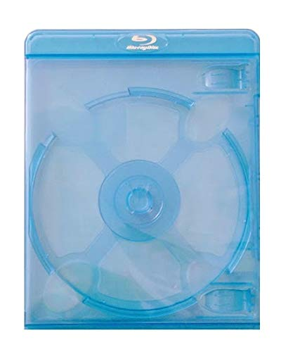 Empty Deluxe Double Blu-ray Replacement Cases for Blue-ray Disc Movies 11mm Thickness with Silver Embossed Logo - 2 Discs (10 Pieces)