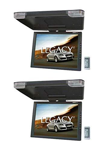 2) LEGACY LMR15.1 15' LCD TFT Car/SUV/TRUCK Flip Down Roof Mount Monitors TV IR