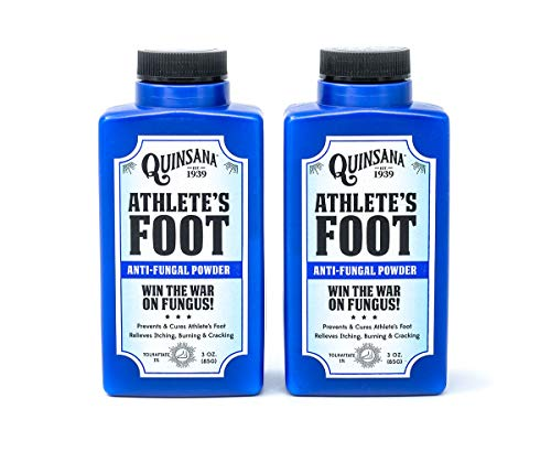 Quinsana Plus Anti-fungal Powder for Athletes Foot 3.0 Oz (2 Pack)
