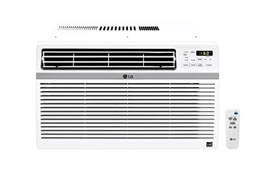 LG 8,000 BTU 115V Window-Mounted Air Conditioner with Remote Control, White