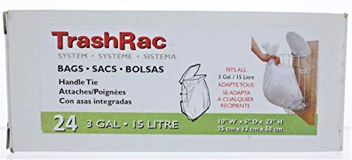 Trashrac 3 gal. Trash Bags Handle Tie 24 pk