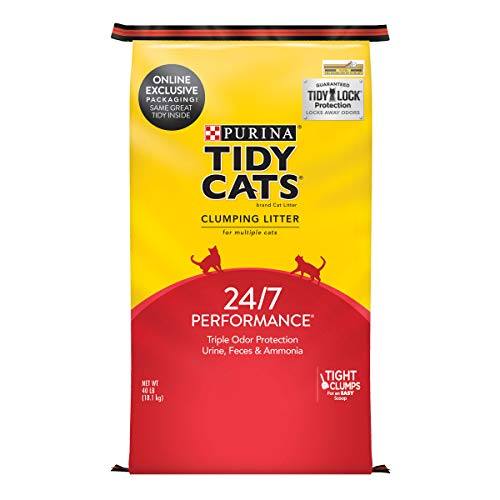 Purina Tidy Cats Low Dust Clumping Cat Litter for Litter Box Odor Control, 24/7 Performance - 40 lb. Bag