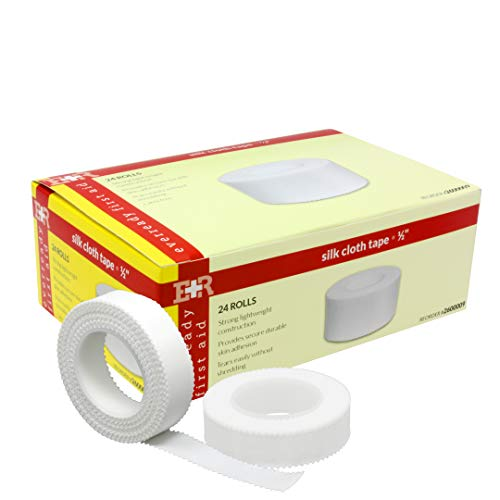 Ever Ready First Aid 2600009-X24 Adhesive Silk Cloth Tape, Latex Free, 1/2' x 10 yd. (Pack of 24)