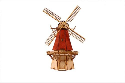 Desktop Wooden Model Kit Dutch windmill 2