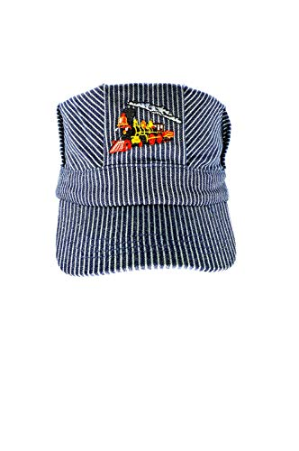 The ''Real Deal Boys Red Steam Engine , Embroidered Train Engineer Hat , with I Love Train's