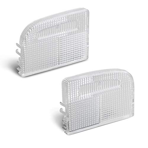HERCOO Interior Dome Light Cover Roof Map Light Lens 34401-SDA-A21 34402-SDA-A21 Right Left Side Compatible with Honda Accord Hybrid Civic Element Odyssey Pilot Ridgeline