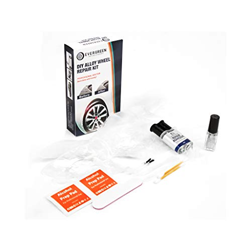Evergren A1002 DIY Alloy Wheel Repair Kit Compatible With Rim Damage Scratches Scrapes Scuffs