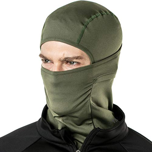 TSLA Winter Balaclava Mask Face Cover Thermal Fleece Helmet Liner Unisex, Thermal Balaclava(yzb03) - Army Green, Large
