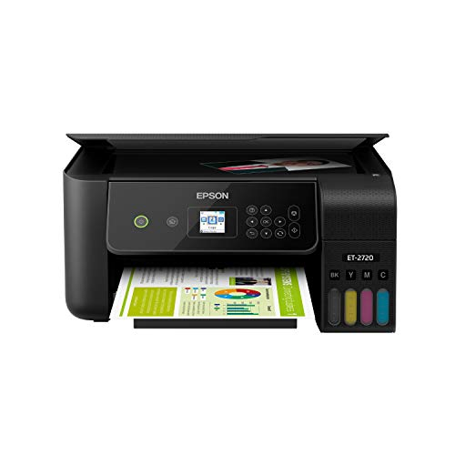 Epson EcoTank ET-2720 Wireless Color All-in-One Supertank Printer with Scanner and Copier - Black