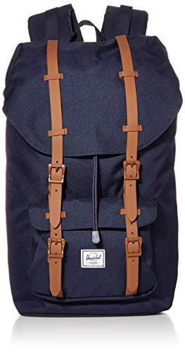 Herschel Little America Laptop Backpack, Peacoat/Saddle Brown, Classic 25.0L