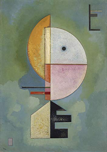 Vassily Kandinsky Upward Solomon R. Guggenheim Museum 24' x 17' Fine Art Giclee Reproduction Canvas Print (Unframed)