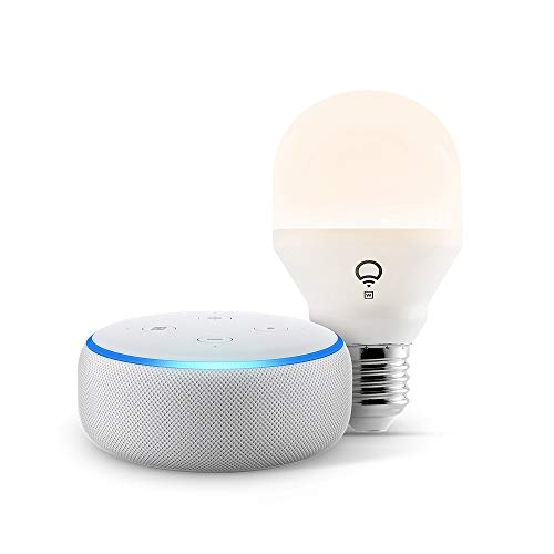 Echo Dot (3rd Gen) - Smart speaker with Alexa - Sandstone LIFX Simple Set up Bulb (Wi-Fi)