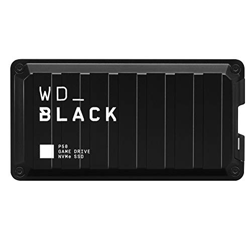WD_BLACK 1TB P50-Game Drive Portable External Solid State Drive SSD, Compatible with-Playstation, Xbox, PC, & Mac, Up to 2,000 MB/s - WDBA3S0010BBK-WESN