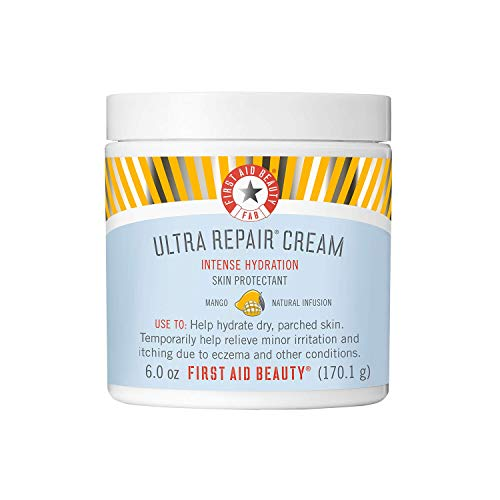 First Aid Beauty Ultra Repair Cream Intense Hydration Moisturizer for Face and Body Mango, 6 oz.