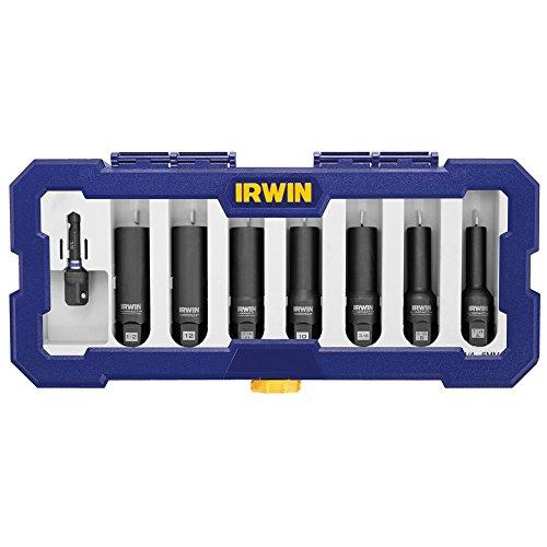 Bolt-Grip 1859151 Irwin Tools Impact Performance Series Bolt Grip Deep Well Bolt Extractor, 8-Piece