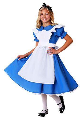 Child Alice in Wonderland Deluxe Alice Costume Dress Small (6) Blue,White