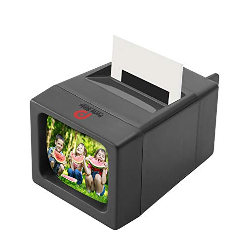 Porta Slide Illuminated Slide Viewer Battery Operated & Pressure Activated LED Transparency Viewer for 2x2 & 35mm Photographs, Film, Pictures Tabletop & Handheld Portable Device w/Cleaning Cloth