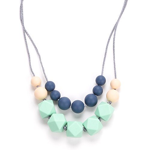 Bebe by Me 'Harper' Hard + Soft + Cushy Beads All-in-1 Teething Necklace for Nursing Moms
