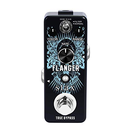 Stax Guitar Flanger Pedal Vintage Analog Flanger Effect Pedals For Electric Guitar Filter & Normal Modes Mini Size True Bypass