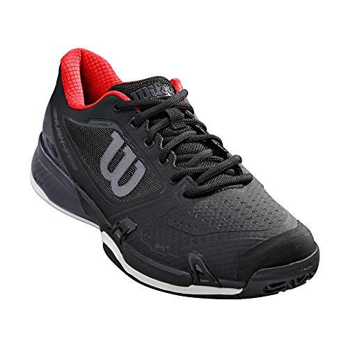 Wilson unisex adult RUSH PRO 2.5 2019 Platform Tennis Shoe, Black/Ebony/Wilson Red, 13 US