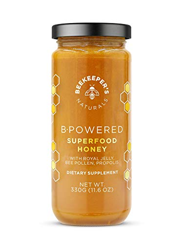 BEEKEEPER'S NATURALS B.Powered - Fuel Your Body & Mind, Helps with Immune Support, Mental Clarity, Enhanced Energy & Athletic performance - Propolis, Royal Jelly, Bee Pollen, Honey (11.6 oz)