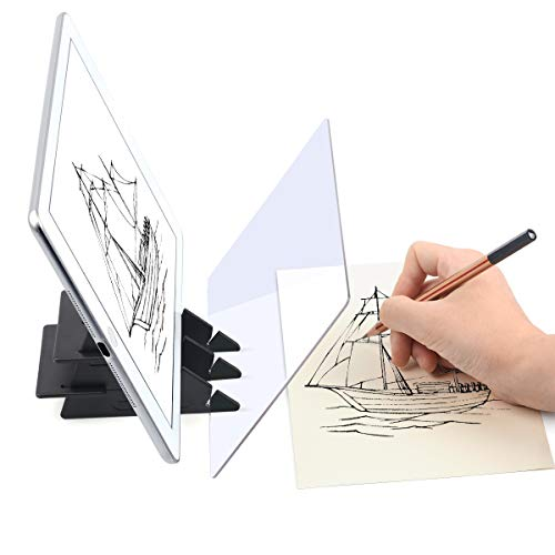 Yuntec Optical Drawing Board, Portable Optical Tracing Board Image Drawing Board Tracing Drawing Projector Optical Painting Board Sketching Tool for Kids, Beginners, Artists, etc