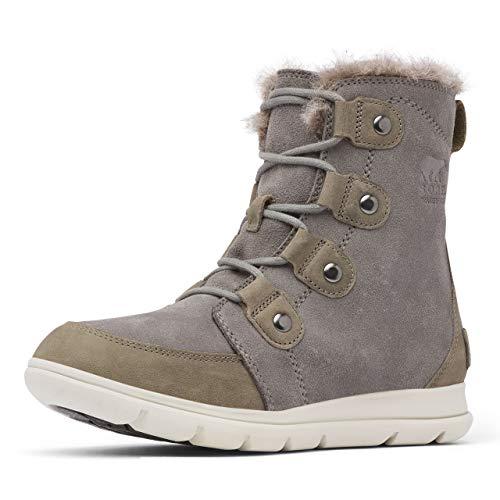 Sorel Women's Explorer Joan Boots, Quarry/Black, 10 Medium US