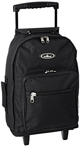 Everest 1045mWheeled Backpack - Standard, Black, One Size,1045WH-BK