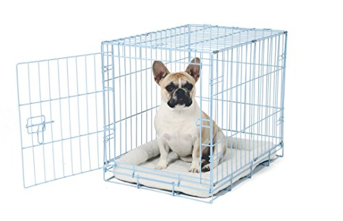Carlson Blue Secure and Compact Single Door Metal Dog Crate, Small