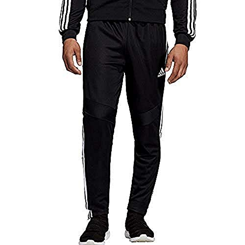 adidas Men's Tiro 19 Training Soccer Pants, Small, Black/White
