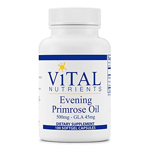 Vital Nutrients - Evening Primrose Oil - Cold-Pressed Oil That Contains GLA, an Essential Omega-6 Fatty Acid - 500 mg - 100 Softgels per Bottle
