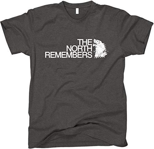 GunShowTees Men's The North Remembers GoT Shirt, X-Large, Dark Heather