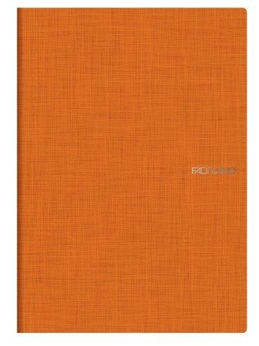 Fabriano A4 Squared Stapled Notebook - Arancio Orange